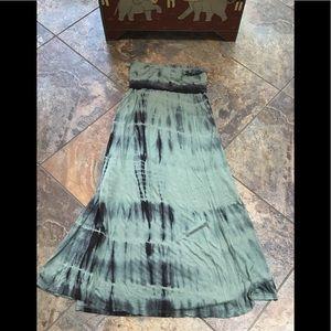 Billabong tye dye maxi skirt